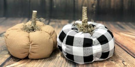 Crafts & Cocktails - Fabric Pumpkin Set tickets