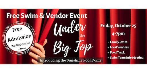 Free Swim and Vendor Event