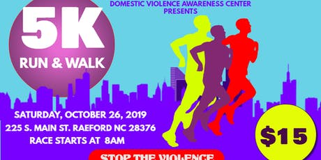 Hoke County Domestic Violence Awareness 5K Run& Walk tickets
