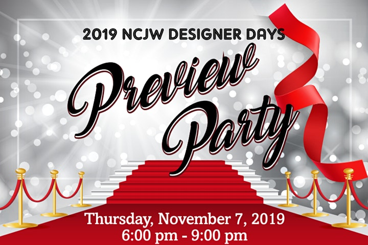 Preview Party! NCJW Fall Designer Days 2019 image