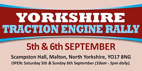 Yorkshire Traction Engine Rally 2020 (Public Caravan/Motorhome/Camping) tickets
