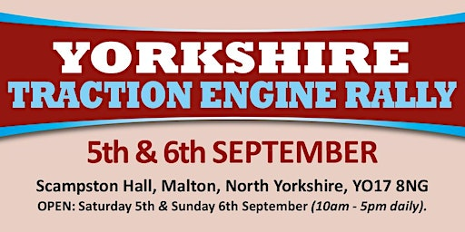 Yorkshire Traction Engine Rally 2020 (Public Caravan/Motorhome/Camping)