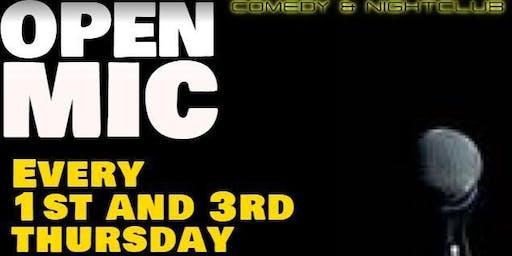 OPEN MIC Thursday October 17, 7:30pm!