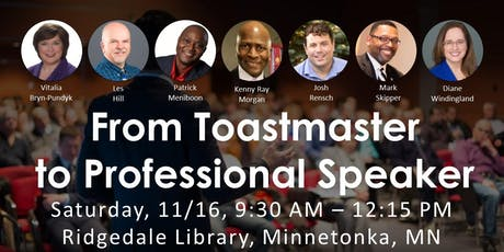 From Toastmaster to Professional Speaker tickets