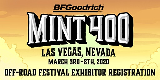 2020 Mint 400 Off-Road Festival Exhibitor/Seller Registration
