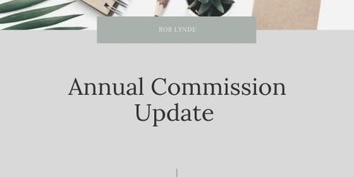 November Annual Commission Update