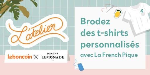 ATELIER / Brodez des t-shirts personnalisés avec La French Pique