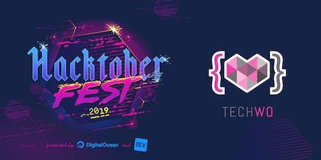 Hacktoberfest - Women in OpenSource by TechWo boletos