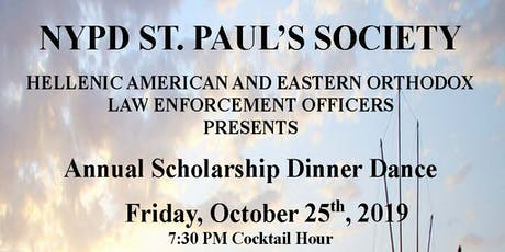 NYPD Guardian Member Tickets to NYPD St Paul's Society 2019 Dinner Dance tickets