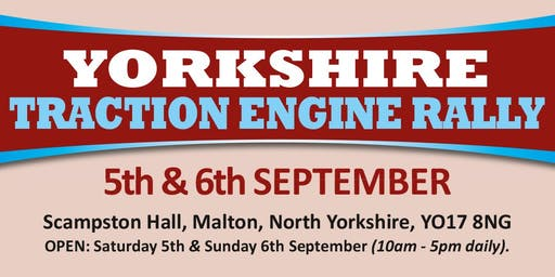 Yorkshire Traction Engine Rally 2020 (Buy Admission Tickets)
