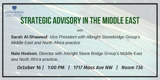 Strategic Advisory in the Middle East