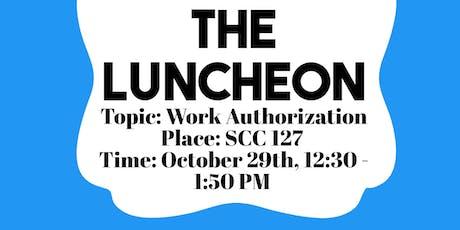 Work Authorization Luncheon billets