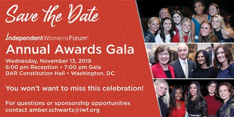 2019 Annual Awards Gala | Independent Women's Forum tickets