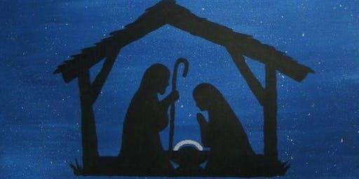 Nativity Acrylic Painting on Canvas Workshop