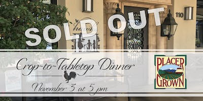 PlacerGROWN Crop-to-Tabletop Dinner
