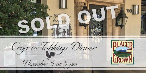 PlacerGROWN Crop-to-Tabletop Dinner