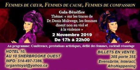 Soirée Gala-bénéfice Femmes de cœur, Femmes de cause, Femmes de compassion tickets