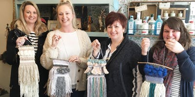 Introduction to Weaving Workshop at Minikin Art Cafe