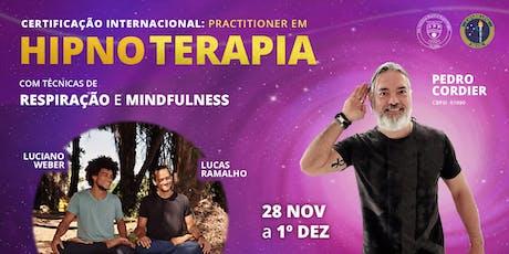 Practitioner em Hipnoterapia com Respiração e Mindfulness ingressos