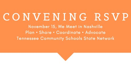 Tennessee Community Schools State Network Fall Convening 2019 tickets