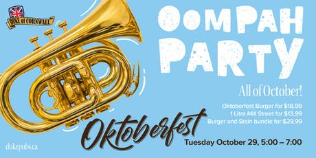 Oktoberfest at the Duke of Cornwall tickets