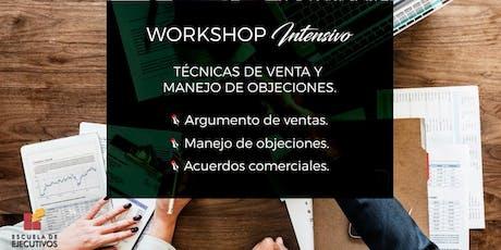 WORKSHOP: Técnicas de Argumentación y Manejo de Objeciones *Solicitud de INFO* entradas