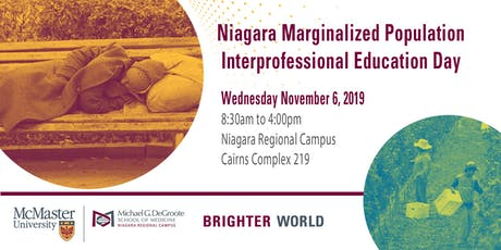 Niagara Marginalized Population IPE Day tickets