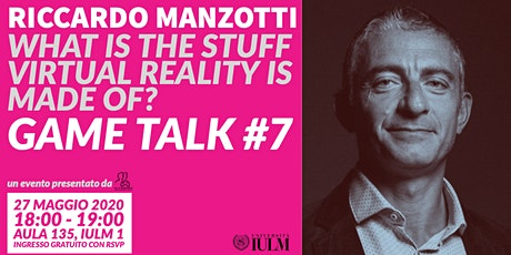 GAME TALK #7: RICCARDO MANZOTTI tickets