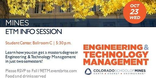 ETM Info Session - Oct 2019
