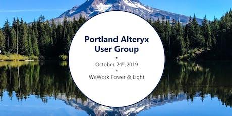 Portland Alteryx User Group - October tickets