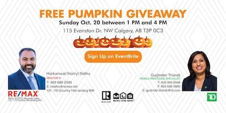 Free Pumpkin Giveaway tickets