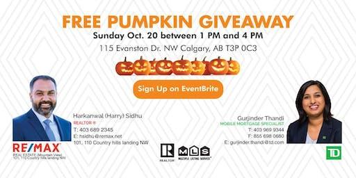 Free Pumpkin Giveaway