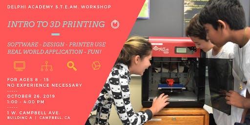 Delphi S.T.E.A.M. Workshop:  Intro to 3D Printing