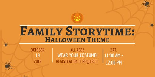Family Storytime (All ages), Saturday, October 19 - 11:00 am - 12:00 pm