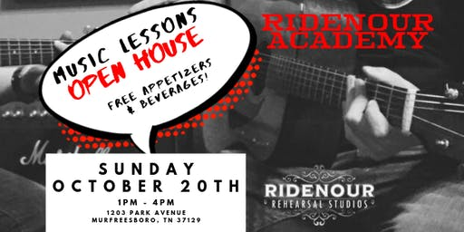 Music Lessons Open House Ridenour Rehearsal Studios
