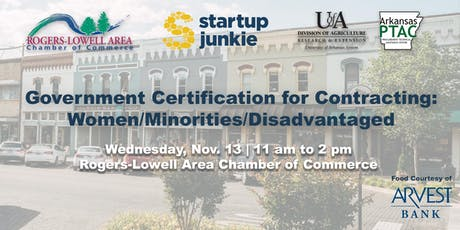 Government Certification for Contracting: Women/ Minorities/ Disadvantaged tickets