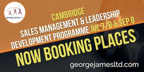 Sales Management & Leadership Development Programme - Cambridge - Jul 7/8 & Sep 8 2020 tickets