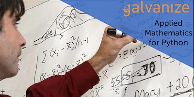 Applied Mathematics for Python Oct 8 - Nov 14, 2019