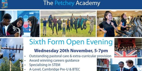 Petchey Academy Sixth Form Open Evening tickets