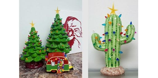 Pre-Order & Schedule to Paint: Ceramic Trees, Camper & Cactus  (2019-11-11 starts at 6:00 PM)