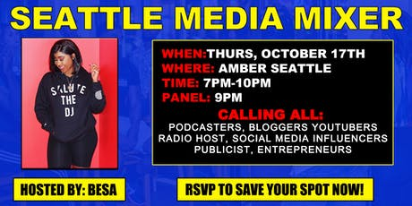 Seattle Media Mixer tickets