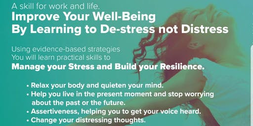 Learn to Destress not Distress