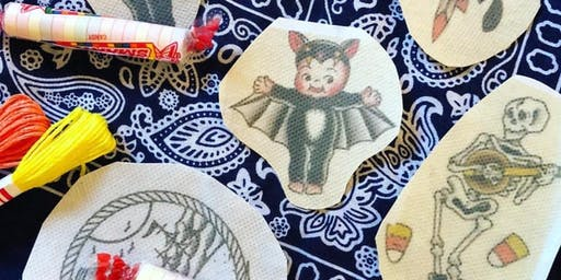 Halloween embroidery workshop