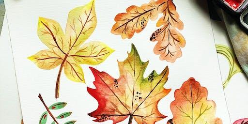Fall Watercolor BYOB Happy Hour