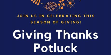 DEVAR Giving Thanks Potluck tickets
