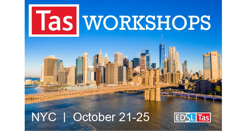 EDSL Tas NYC Workshops