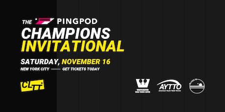Pro Table Tennis: PingPod Champions Invitational tickets