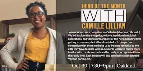 Herb of the Month with Herbalist Camille Lillian tickets