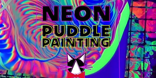 Oct 31: Neon Black-Lit Puddle Painting