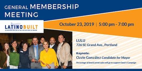 LatinoBuilt's Inaugural General Membership Meeting tickets
